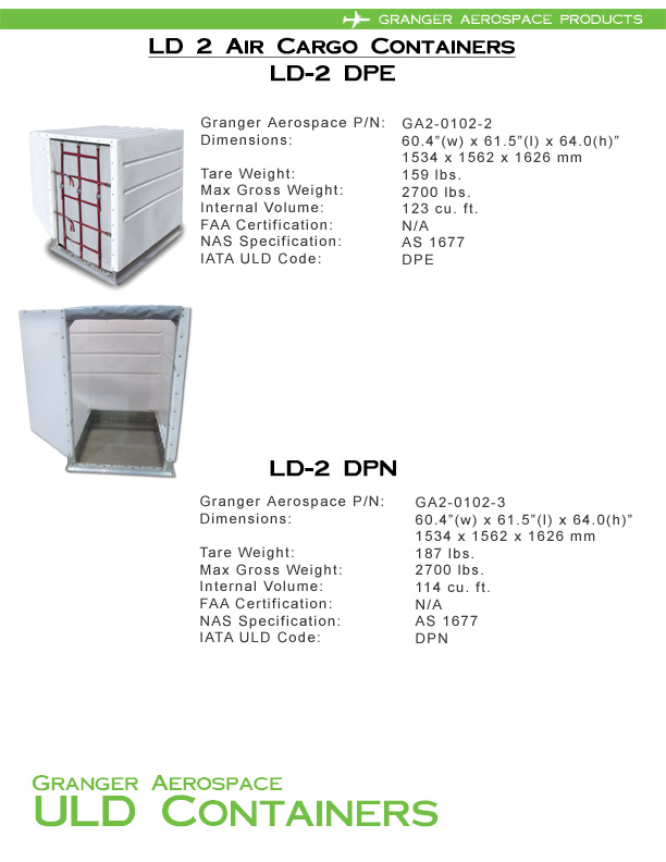 LD 2 Information, LD 2 Specifications, DPE Information, DPE Specifications, DPN Information, DPN Specifications